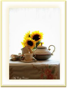 My Cozy Corner: Sunflower Tea Time