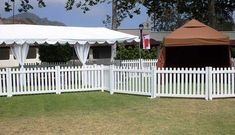 There is many reasons to choose white vinyl picket fence panels for event : * Perfect for ceremonies, upscale parties and more. * high and wide * exceptionally stylish and advantageous Vinyl Picket Fence, Picket Fence Panels, Portable Toilet, White Vinyl, Pergola, Outdoor Structures, Patio, Toilets, Outdoor Decor