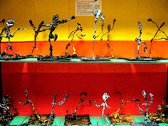 Art Room Current Projects -  sculptures based on Alberto Giacometti
