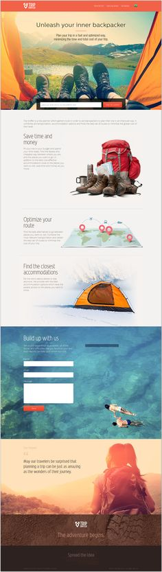 Unique Web Design, Trip Sniffer #WebDesign #Design (http://www.pinterest.com/aldenchong/)