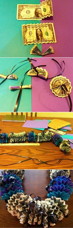 DIY Money Lei-great for gift for teens