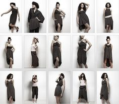 one piece of clothing you could wear in more than 15 different ways Diy Clothing, Piece Of Clothing, Sewing Clothes, Clothing Patterns, Convertible Clothing, Convertible Dress, Look Fashion, Diy Fashion, Fashion Outfits