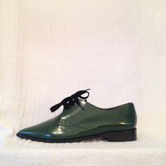 Green Marni Spazzolato Derbys Brand new, perfect oxfords with dust bags and box. They were too small. . I'm normally a 40 in Marni, but these fit more like 39--US 8 or 8.5. Hoping they go to a good home. Marni Shoes Flats & Loafers