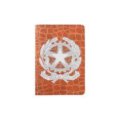 Repubblica Italiana Bianco Passport Holder