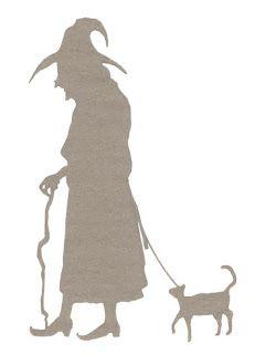 Scherenschnitte: Template Tuesday - Halloween Witch