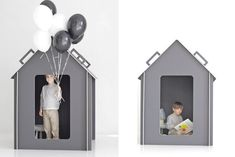 Yes, my playhouse is ready and we shoot it today. Inside Playhouse, Indoor Playhouse, Build A Playhouse, Playhouse Interior, Childrens Playhouse, Eclectic Design, Modern Kids, Kid Spaces, Play Houses