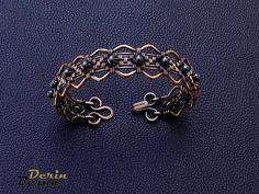 Image result for blue hematite and copper bracelet