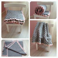 A cute gray throw blanket. Crochet Home, Cute Crochet, Crochet For Kids, Beautiful Crochet, Crochet Baby, Grey Throw Blanket, Plaid Blanket, Crochet Pillow, Crochet Stitches