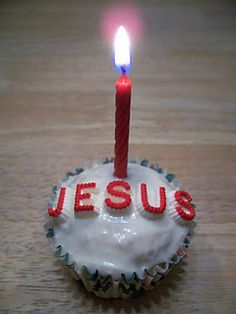 Happy Birthday Jesus! SHOULD DO THIS EVERY YEAR!  We already sing the Happy Birthday song, but what a great addition!