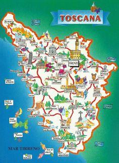 La Toscana in Italy | Map
