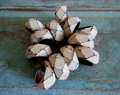 White Painted Distressed Wooden Napkin Rings Set of 12 by turquoiserollerset on Etsy