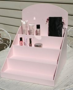 Mary Kay Pink product display stand/riser. This riser is perfect for showcasing your Mary Kay products at craft shows and other events.