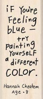 Feeling blue...try painting yourself