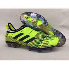 a4589e27019 Botas De Futbol Adidas Glitch Skin 17 FG Amarillo Negro