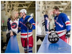 Hockey Engagement Session www.HeatherPrescottPhotography.com