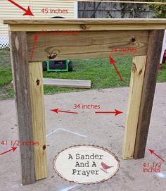faux fireplace mantel, carpentry  woodworking, diy renovations projects, fireplaces mantels, repurposing upcycling, My modified measurements