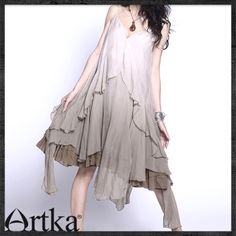 the * Summer Women artka Askar hanging the dye multilayer sling dresses - Shengruxiahua, - * A06529-Taobao