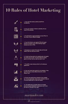 10 Rules of Hotel Marketing Infographic