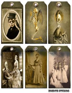 Halloween Zombie Family Tags. $3.50 Zombie Gifts or Zombie presents for that hard to shop for Undead in your life