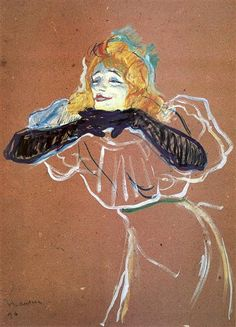 Singer Yvette Guilbert was a genuine star of the Divan Japonais, Ambassadeurs and Moulin Rouge cabarets, and a favourite subject of Toulouse-Lautrec. This work is from / Getty Images Henri De Toulouse Lautrec, Cafe Concert, Kunst Online, Pierre Auguste Renoir, Klimt, French Artists, Famous Artists, Painting & Drawing, Art History