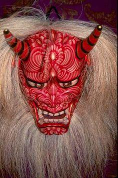 A hannya (般若) mask
