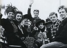 The Belle Stars, Thompson Twins' Allanah Currie, Steve Strange, Suggs and Carl Camden Palace, Midge Ure, Thompson Twins, Stranger Things Steve, The Blitz, Strange Photos, Youth Culture, Celebs, Celebrities
