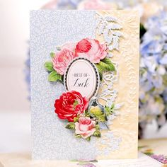 Wildflower Garden Finishing School Craft Box - makes 16 cards This is a Hidden Border card. Anna Craft, Finishing School, Anna Griffin Cards, Window Cards, Craft Box, Garden Crafts, Christmas Wrapping, Scrapbooking Layouts, Boutique