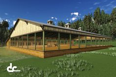 Blueprints for Wood Covered Riding Arena