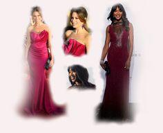 fuchsia long dress, Sofia Vergara VS Naomi Campbell fashion diva who-wore-it-better celeb celebrity