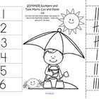 FREE - 4 cut and paste worksheets with a Summer theme. Match 10-frames to numbers 1-12. Match tally marks to numbers 1-12.  If you find this produc...