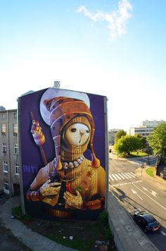 "We declare the world as our canvas""Holy Warrior"" - By INTI in Lodz, Poland."