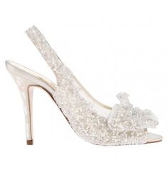 Snowqueen Freya Rose UK shoe designer winter wedding inspiration beaded heels crystal and pearls