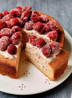 Nadiya Hussain's Raspberry Ice Cream Cake - The Happy Foodie