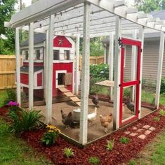 45 Unique Chicken Run Ideas For Garden So you need to fret about them destroying your furniture. A coop merely a shelter, it is a house wherever your chickens live. You can construct a chicken coop free of nail, Backyard Chicken Coop Plans, Easy Chicken Coop, Building A Chicken Coop, Chicken Runs, Chickens Backyard, Chicken Coop With Run, Chicken Coop Decor, Chicken Ideas, Chicken Coop Designs