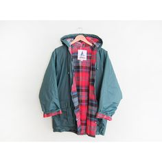 vintage windbreaker rain slicker plaid lined 1990s green rain jacket... ($78) ❤ liked on Polyvore featuring outerwear, jackets, green windbreaker jacket, windbreaker jacket, vintage windbreaker jacket, green rain jacket and vintage windbreaker