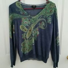 Talbots sweater Excellent condition!  Is pure Italian merino. Size L. Smoke free home. Sweaters Crew & Scoop Necks