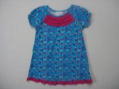 Hanna Andersson Girls Short Sleeve Dress Size 3T Blue second hand 100% Cotton #HannaAndersson #Everyday