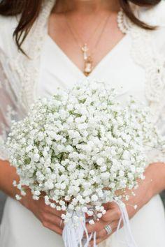 Baby's Breath Bridal Bouquet | Kate Osborne | TheKnot.com