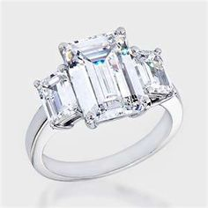 Emerald cut engagement ring...