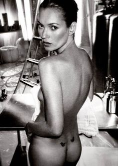Kate Moss photographed by Annie Leibovitz.