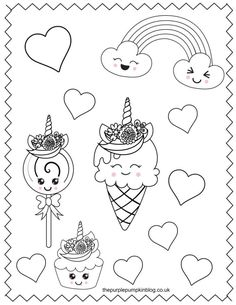 These printable unicorn coloring pages are perfect for anyone who loves these sweet magical creatures! And best of all they're free to print at home! Just use your favorite art supplies to bring these sweet unicorn coloring sheets to life! Unicorn Coloring Pages, Coloring Sheets For Kids, Coloring Pages For Girls, Coloring Book Pages, Painting Sheets, Activity Sheets For Kids, Hello Kitty Coloring, Doodle, Watercolor Kit