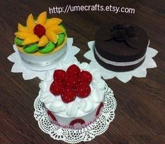 SALE - Felt Cakes LOT (Patterns and Instructions via Email)