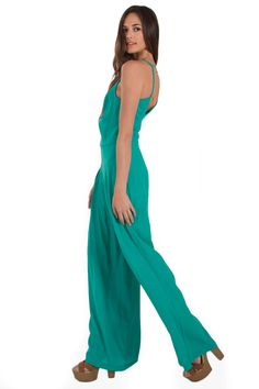 Emerald Lane Jumpsuit * #springfashion #romper #green