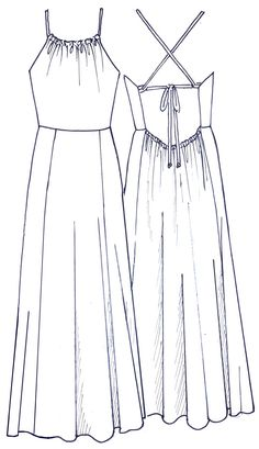 Fashion Design Drawings, Fashion Sketches, Clothing Sketches, Fashion Illustration Dresses, Dress Illustration, Dress Sketches, Flat Sketches, Fashion Vocabulary, Girl Fashion