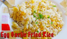 How to make egg garlic fried rice #recipe #recipes #food #cooking