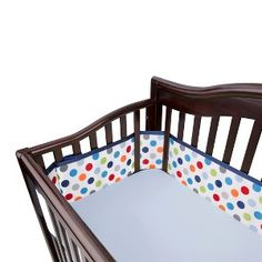Breathable Mesh Crib Liner by BreathableBaby - Blue Dot