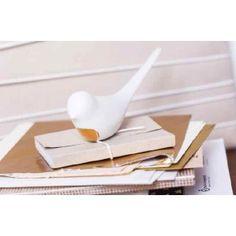 """Oiseau en porcelaine """"White & Gold"""" - 12€"""