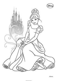 Disney Colors Princess Art Rita Toddler Games Lens Stamping Cinderella Colouring In