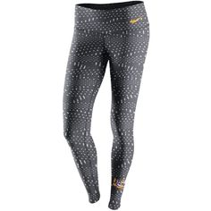Nike Women's Lsu Tigers Legend Dri-fit Tights ($60) ❤ liked on Polyvore featuring activewear, activewear pants, anthracite, nike sportswear, nike, nike activewear and nike activewear pants