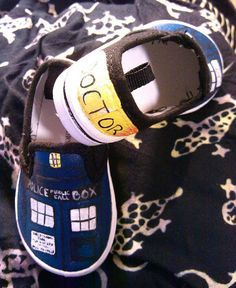 Whovian baby shoes by GallifreyanMarket on Etsy, $35.00